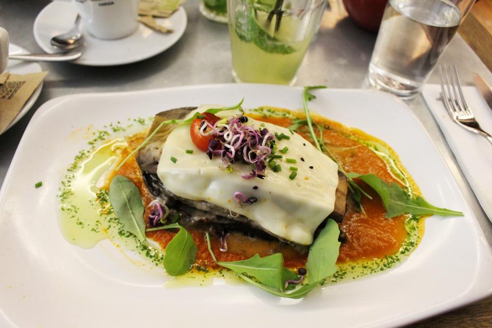 Vegetarisk restaurang i Barcelona