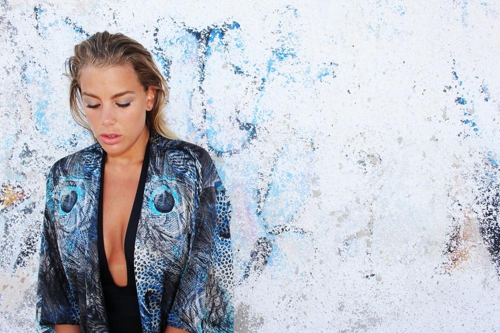 Blue Peacock Kimono & Swimwear