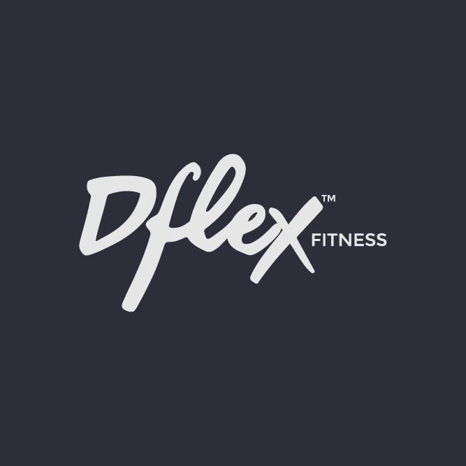 DflexFitness logo grey